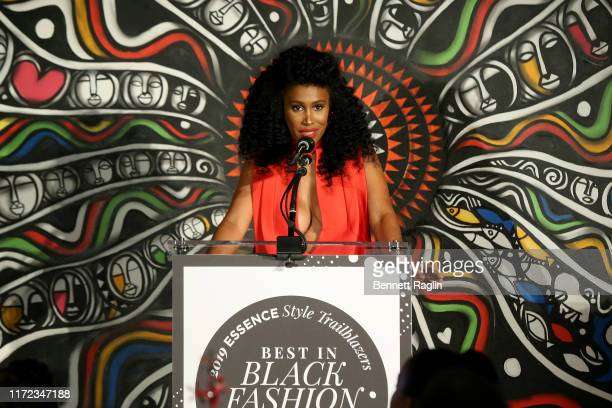 Moana Luu speaks during the ESSENCE Best In Black Fashion Awards at Affirmation Arts on September 04 2019 in New York City