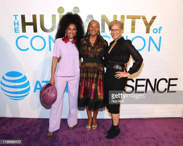 MoAna Luu Susan L Taylor and Tonya Lewis Lee attend ESSENCE ATT Humanity Of Connection event at New York Historical Society on June 10 2019 in New...
