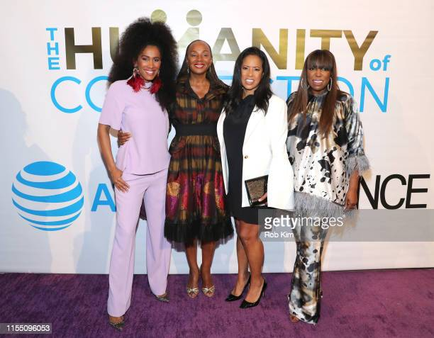 MoAna Luu Susan L Taylor Michelle Ebanks and Mikki Taylor attend ESSENCE ATT Humanity Of Connection event at New York Historical Society on June 10...