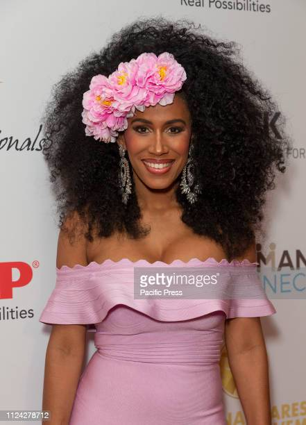 Moana Luu wearing dress by House of CB attends For the Love of Our Children National CARES Mentoring Movement Gala at Ziegfeld Ballroom