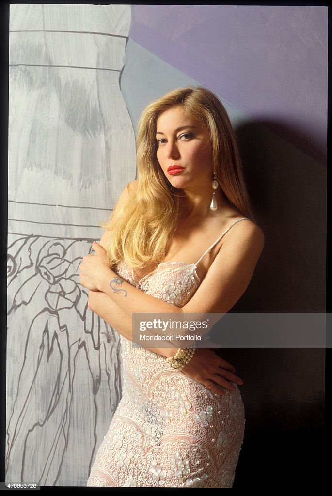39 moana pozzi posing with a partially transparent embroidered dress news photo getty images - Spettacoli diva futura ...