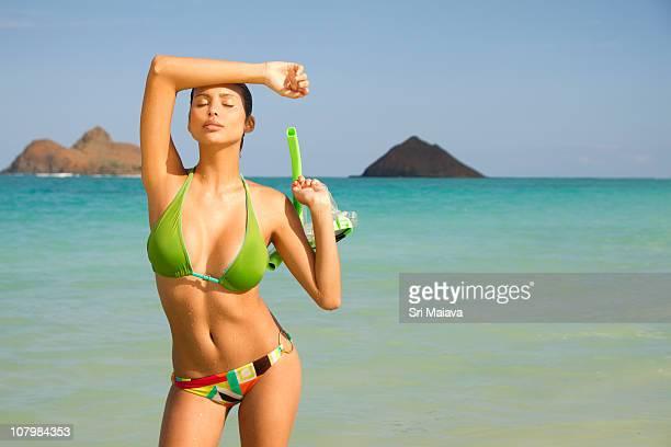 moani at kailua beach - kailua stock pictures, royalty-free photos & images