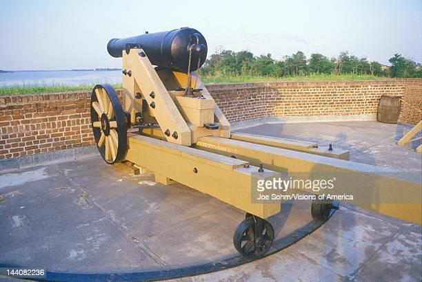 Moat surrounding Fort Jackson in Savannah GA