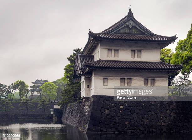 Moats and walls around the Imperial Palace, Tokyo, Japan.