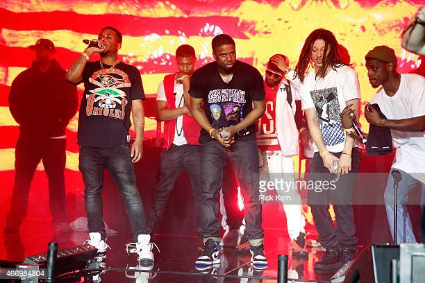 Mob performs onstage at the Samsung Milk Music Lounge featuring A$AP Rocky on March 19 2015 in Austin Texas