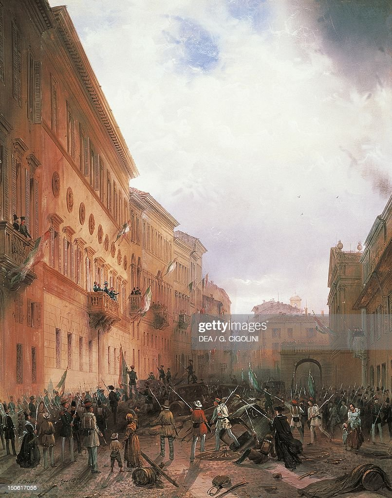 Mob riot in Milan against Carlo Alberto : News Photo