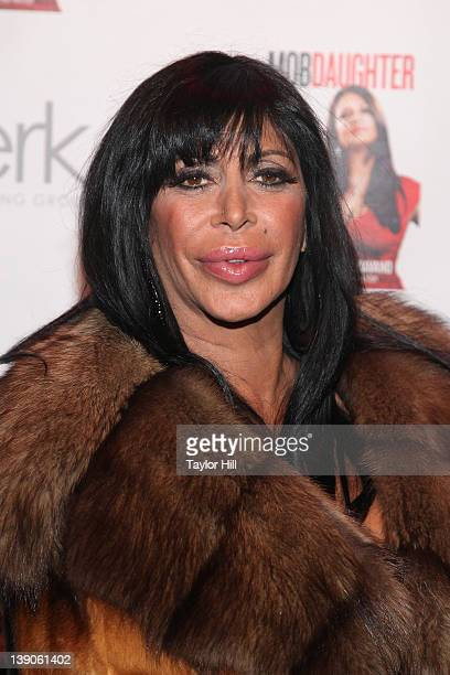 Mob Wife Angelina Big Ang Raiola attends Karen Gravano's Mob Daughter book release party at Greenhouse on February 15 2012 in New York City