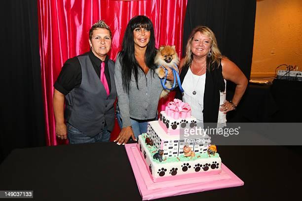 Mob Wives reality star Big Ang Raiola hosts a Doggie Social at the Mansion Cafe Showboat Atlantic City NJ on Saturday July 212012