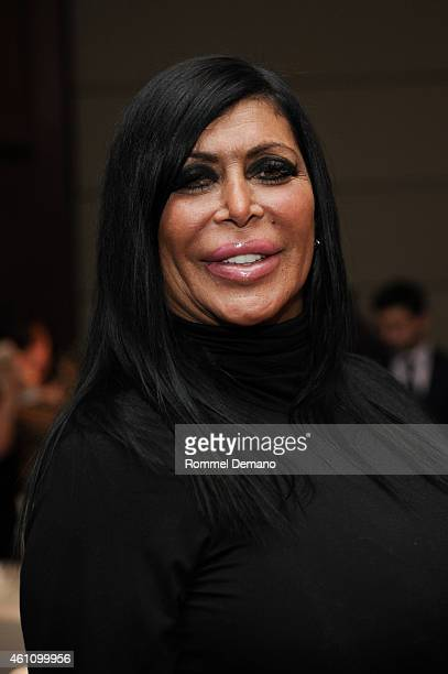 Mob Wives star Angela Big Ang Raiola attends MDA's 18th Annual Muscle Team Gala at Pier 60 on January 6 2015 in New York City
