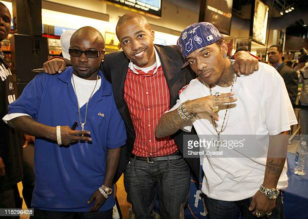 Mobb Deep and Kevin Liles during Mobb Deep Album Signing May 2 2006 at FYI in New York City New York United States