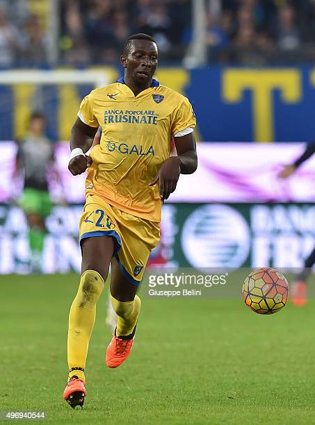 Mobido Diakite of Frosinone in action during the Serie A match between Frosinone Calcio and Genoa CFC at Stadio Matusa on November 8 2015 in...