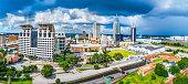 Mobile, Alabama, USA Skyline Panorama