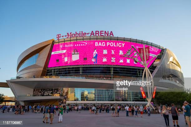 t mobile arena in las vegas nevada - sponsorship stock pictures, royalty-free photos & images