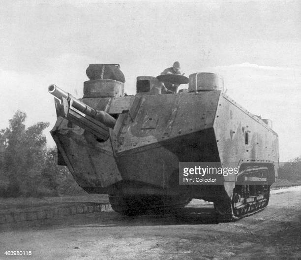 Mobile artillery piece, Moronvilliers, France, First World War, 5 May 1917.