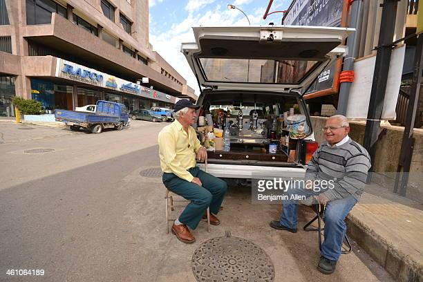 Mobile coffee shops are all the rage in Lebanon. This one run by a couple of Lebanese-Armenian men in Borj Hammoud - the Armenian suburb of Beirut,...