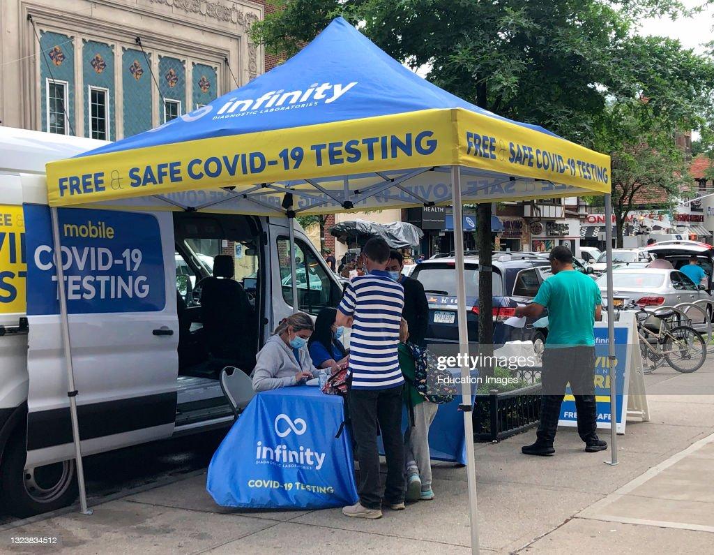 Mobile Covid 19 Testing van, Queens, New York : News Photo