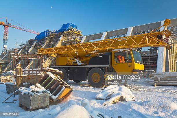 Mobile Crane in Baustelle