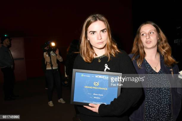 Mobile Film Festival 2018 Grand Prix Franais awarded actress/director Manon Gaurin for Monsters attends 'Mobile Film Festival 2018' at Mk2...
