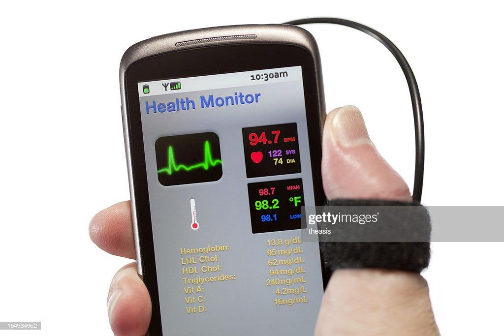 Mobile Health Monitor : Stock Photo