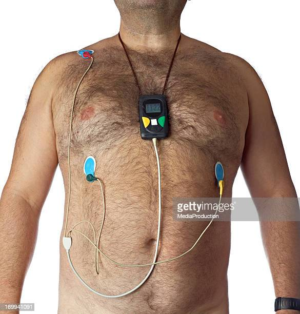 mobile heart monitor - holter monitor stock photos and pictures
