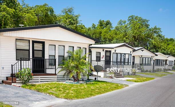 mobile home community - inexpensive stock photos and pictures