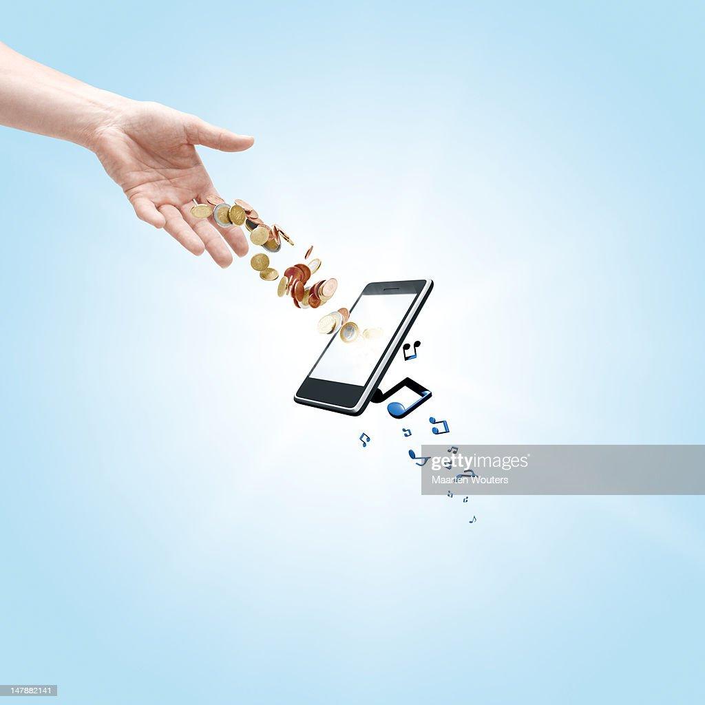 mobile life music 01 : Stockfoto