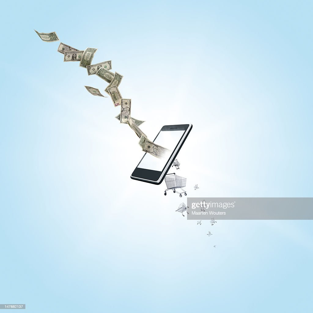 mobile life shopping 03 : Stockfoto