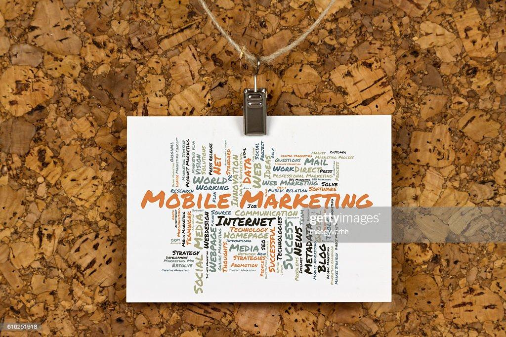 Mercadotecnia palabra nube móvil : Foto de stock