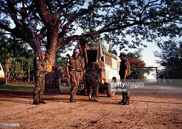 Mobile patrol in Mong Russei, a remote district of Battambang in Cambodia. During the early 1990s, the area was heavily mined and subject to sporadic...