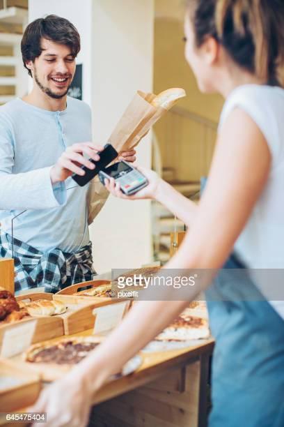 Paiement mobile dans la boulangerie