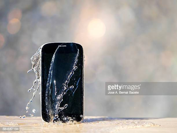 Mobile phone damaged for falling to the water