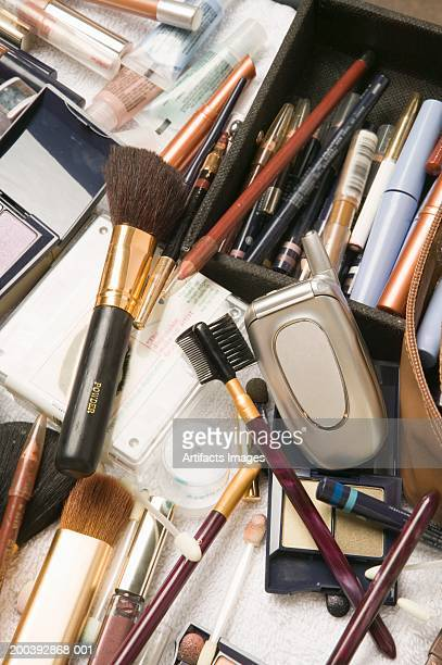 Mobile phone in make-up case