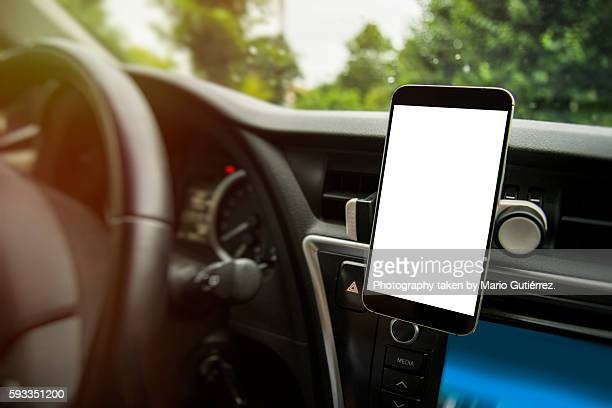 Mobile phone inside car