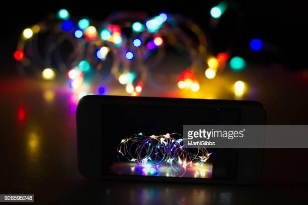 Mobile phone taking LED colorful light