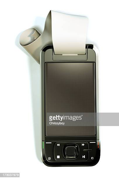 Mobile Phone with till receipt
