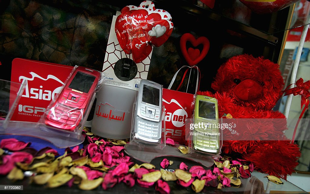 Mobile phones are displayed for sale on June 26, 2008 in Baghdad, Iraq. The war-damaged aging landline telephone infrastructure means Iraqis are increasingly more dependent on mobile phones in daily life and business.