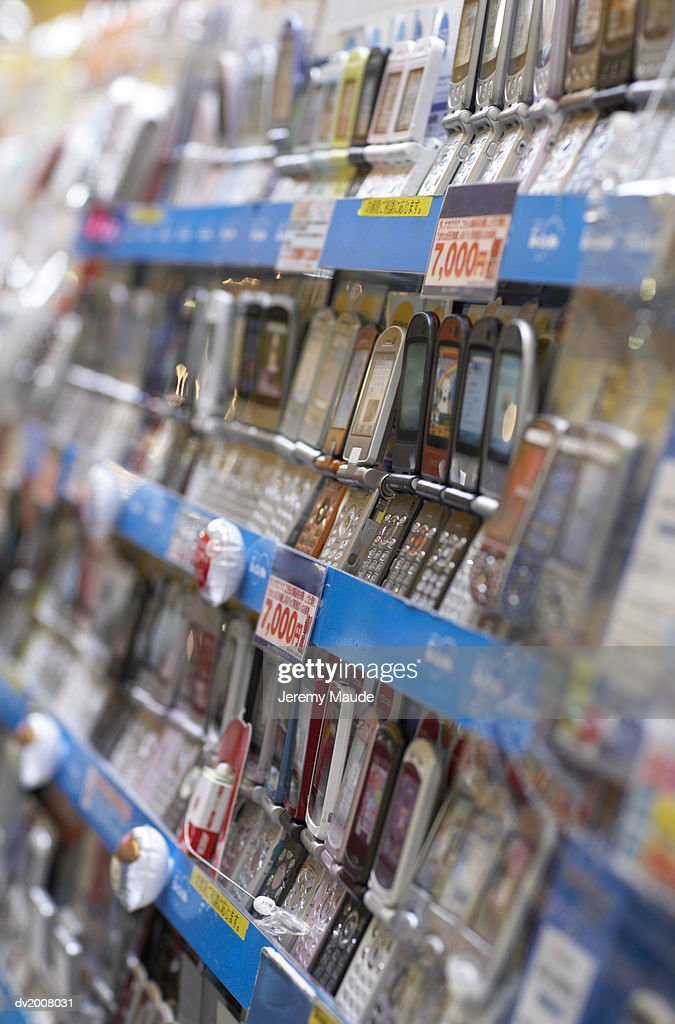 Mobile Phones Shop in Tokyo, Japan : Stock Photo
