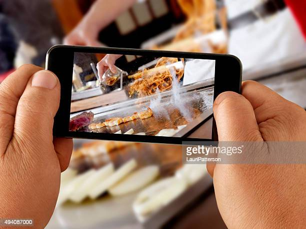 Mobile Photography at a Japanese Restaurant