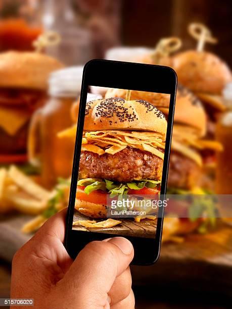 モバイル写真のグルメミニバーガー