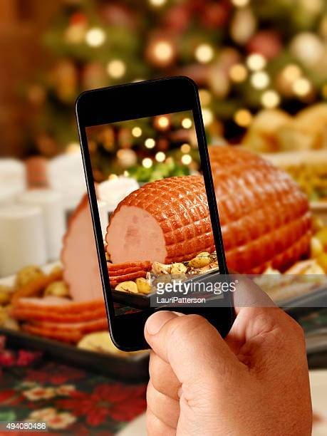 Mobile Photography of Holiday Ham Dinner