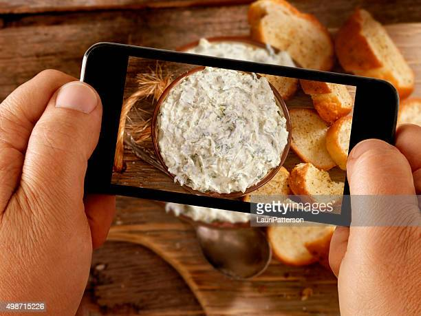 Mobile Photography of Spinach dip