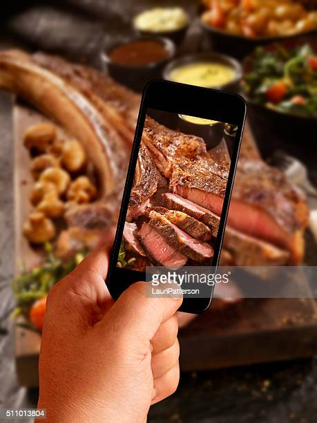 Mobile Photography of The Tomahawk Steak