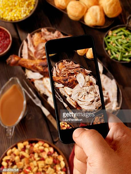 Mobile Photography of Turkey Dinner