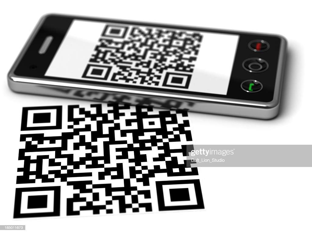 Téléphone portable Scanner de code QR : Photo