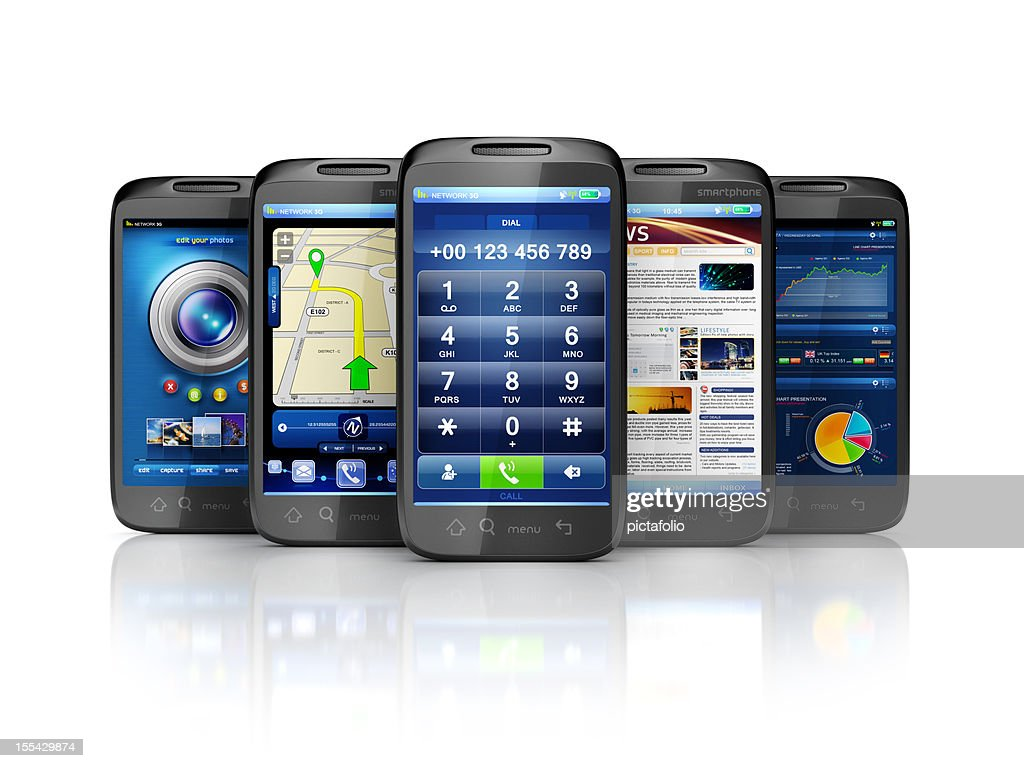 mobile services & user interface apps : Stock Photo