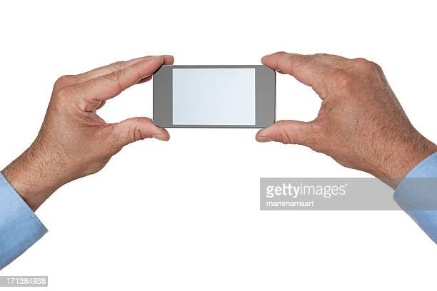 Mobile Smart Phone In Two Hands