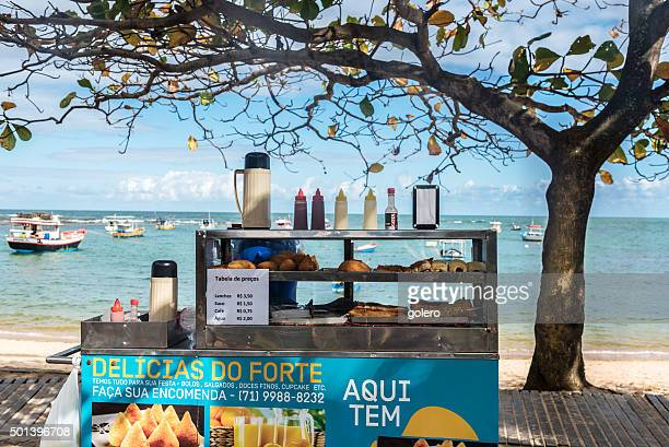mobile street food stall at coast of Bahia, Brazil