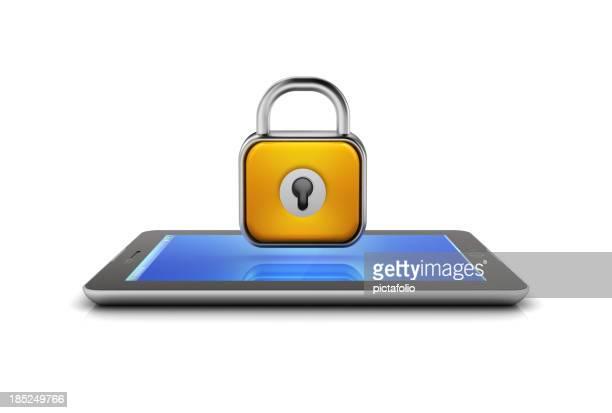 &タブレットのモバイルセキュリティロック