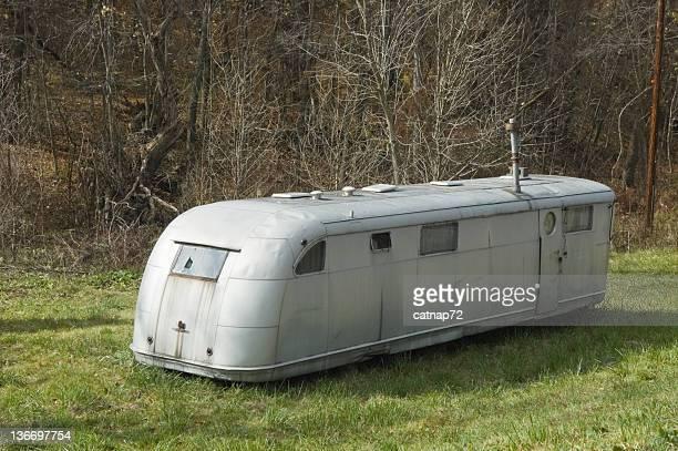 Mobile Trailer Home, 1950's Retro Style Silver