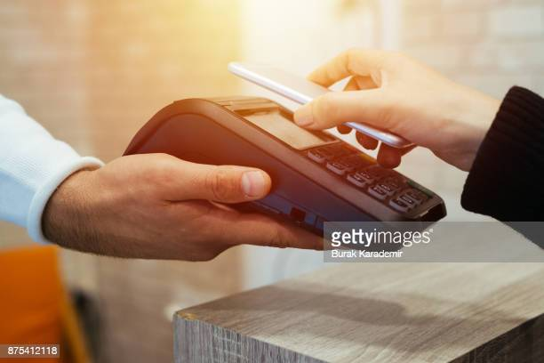 mobile/contactless payment - nfc stock pictures, royalty-free photos & images